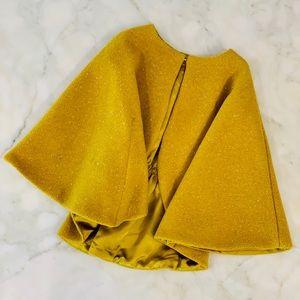 Girls jewel-toned wool/poly cape. Sz 5T.